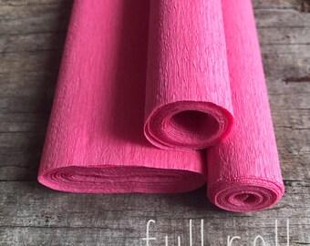 Pink - 60g Italian Crepe Paper - FULL ROLL