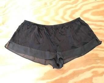 Victoria Secret Black Silk Shorts