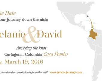 Destination Ticket Save the Date invitation (digital)