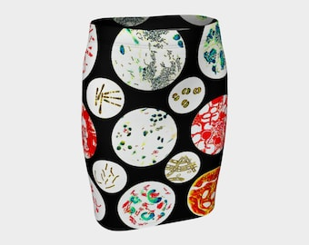 Petri Dish  Fitted Skirt      A-Line          S-M-L-XL  Wearable Art/A-Line/Clothes/Clothing/Women/Skirts