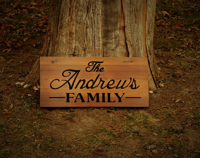Couples Gift Best Wedding Gift  Outdoor Sign Decor Outside Sign Last Name Established Sign Unique Gift Sign Custom Carved Wood Sign