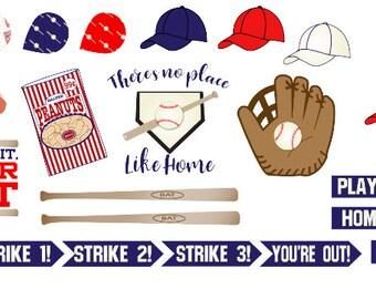 Baseball Stickers 42 piece set , Journals , Calendar , reminder , Labels , Adults , Kids , Teens