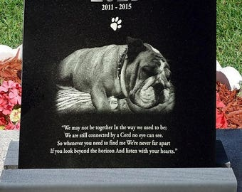 "Composite Base for Granite dog tombstone,  pet headstone, pet grave markers. (will fit a 12x12 or 6x12 inch by 3/8"" thick)"
