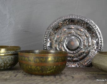 Collection Of Eastern Brass Bowls