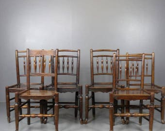 Harlequin Set 6 Spindle Back Chairs