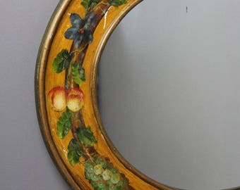 Large Oval Hand Painted Mirror