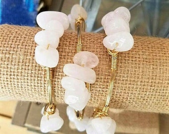 White jade pebble bangle, stone bangle, jade,gemstone jewelry, white bangle, summer, spring jewelry,bracelets