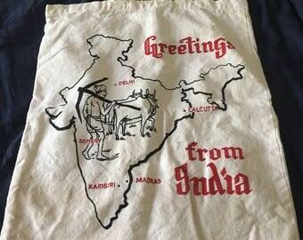 India map Tote Bag