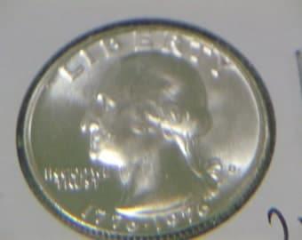 Uncirculated Gem Proof 1976S Washington 40% Silver Quarter
