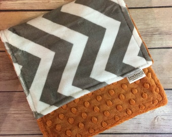 Texas Longhorns Burp Cloth Set lupgrade Available Mix and Match  Made to Order, Monogramming Option Orange Grey White Chevron