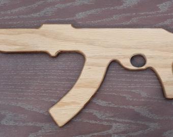 Toy Wood Machine Gun AK47