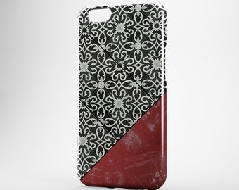 Morocco iPhone 7 Case Red Marble iPhone Case Marble iPhone 7 Cover Galaxy Marble iPhone 5 Case Black Moroccan iPhone SE Marble iPhone 7 Plus