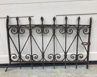 RESRVED FOR KIADENNEY (both) Vintage Wrought Iron Gate / Antique Window Gate / Garden Decor / Architectural Salvage