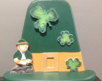 Vintage St. Patrick's Day Wood Decoration, Saint Patrick's Day, Leprechaun, St. Paddy's Day Decor