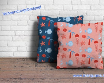 """Fabric """"Sea"""" - Merquana design"""