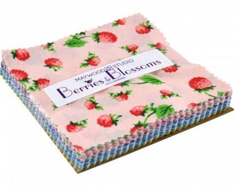 """Berries & Blossoms 5"""" Squares Charm Pack from Maywood by the pack"""