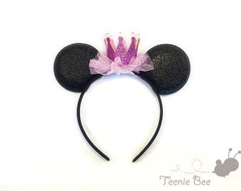 Disney Princess Ears - Baby Minnie Ears - Baby Mickey Ears - Disney Baby Ears - Disney Ears Headband - Disney Princess Ears
