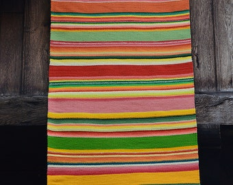 Colorful Woven Rug Etsy