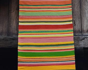 Colorful striped rug, wool rug runner, boho rug, colorful boho rug, striped rug runner, unique accent rug