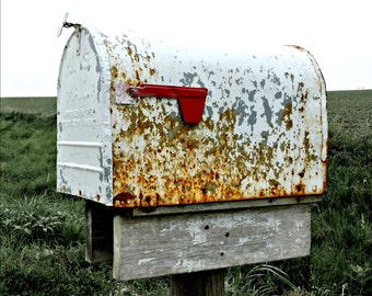 Rural Rustic Rusty Mailbox Digital Download Photography