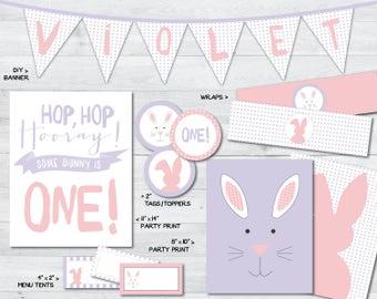 bunny birthday party printables, bunny party, bunny party decorations, some bunny party printables, bunny party, some bunny is one