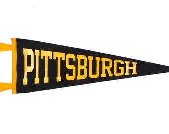Classic Pittsburgh Pennant - Black and Yellow