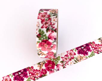 Floral Washi Tape Red Pink Flowers