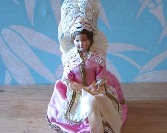1940s/50s French Breton celluloid souvenir/folk doll