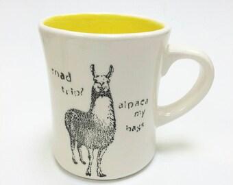 Llama Drama/ Road Trip/ Como te llamas Mug