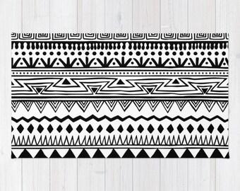 throw rug tribal 2x3   etsy