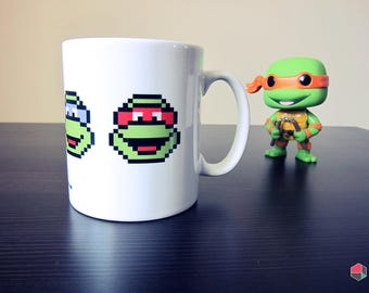 Teenage Mutant Ninja Turtles Inspired 8-bit Art Mug