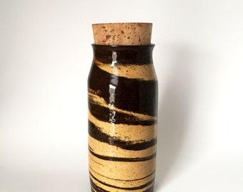 Handmade Ceramic Corked Jar