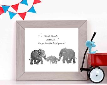 Boys Nursery Print Boys Nursery Art Elephant Nursery Art Elephant Nursery Prints Elephant Nursery Decor Blue Nursery decor