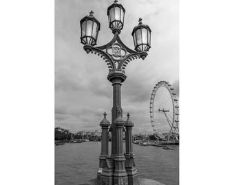 London Print, London Photography, Westminster Bridge Art, Black and White Living Room Picture, British Wall Decor, London Photography