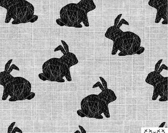 Grey bunny jersey knit, bunny jersey knit fabric, fabric by the yard, gots certified fabric, organic fabric, miamea design