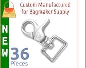 3/4 Inch Trigger Style Swivel Snap Hooks, Shiny Nickel Finish, 36 Pack, Purse Clip, Handbag Bag Making Hardware Supplies, SNP-AA154 New Item