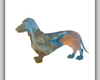 Dachshund, dog, dogs, watercolor, water color, dachshund art, dachshund pictures, printable dachshund, dachshund print, dachshund prints,