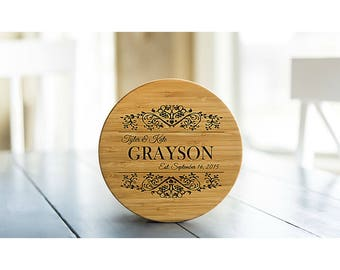 Personalized Solid Bamboo Trivets - 1 Trivet - Grayson Style