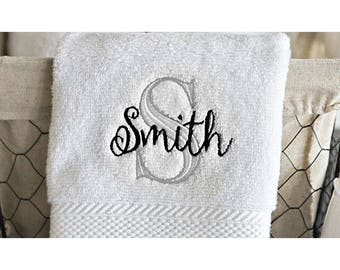 Personalized Luxury Bath Towels - Smith Design