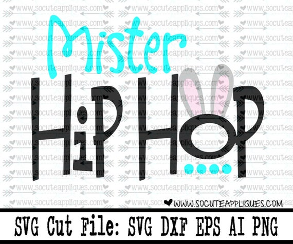 Mister Hip Hop Easter Svg Christian Svg Easter Bunny Svg