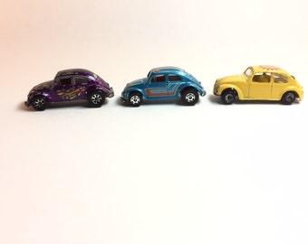 Vintage Volkswagen metal toy cars