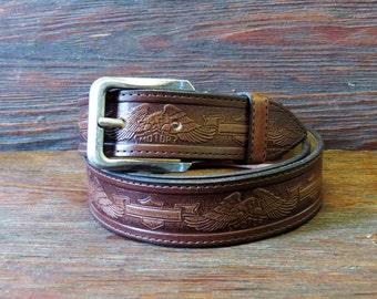 Leather Belt, tooled leather belts, western belt, mens western belt, cowboy belt, custom leather belts, handmade leather belts, gift For man