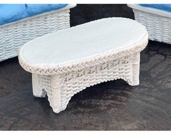 Fairy Garden  - Wicker Table White - Miniature