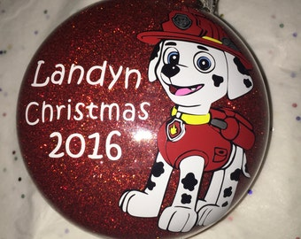 Personalized Marshall Paw Patrol Ornament