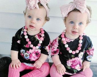 Pink Bubblegum Necklace, Princess Bubblegum Necklace, Pink Toddler Necklace,  Pink 1st Birthday, Pink Chunky Necklace, Pink Sparkle Necklace