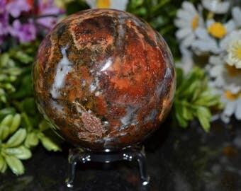 Jasper Sphere 69 MM, Jasper Crystal Sphere, Jasper Sphere