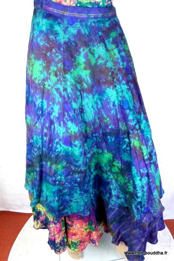 jupe longue hippie chic longue boheme gypsy loose maxi skirt. Black Bedroom Furniture Sets. Home Design Ideas