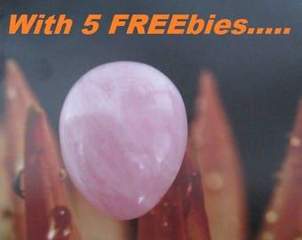 GEMOLOGIST Certified Rose Quartz Yoni Egg   Reiki Infused   With 5 FREEbies  for Kegel Exercis   Rosequartz YoniEggs   Yoni Stone