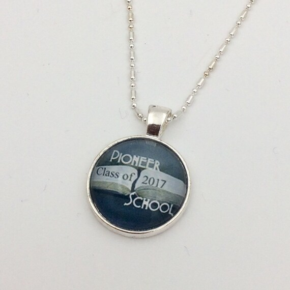JW Circle Pendant -Choice of Watchtower Sign, Warwick, Pioneer School, Etc. Blue Velvet Gift Bag Included! (SKU 52)