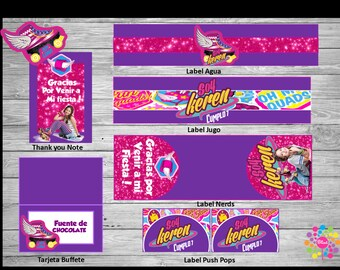 NEW!! SOY LUNA !! Printable Party Set! Customize!!